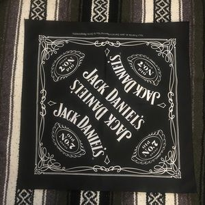 Jack Daniels Old No. 7 Whiskey Bandanna Scarf for sale